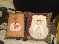 Primitive Christmas Pillows by CountryStrongCrafts on Etsy, $10.00