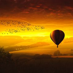 Sunset balloon by Marc Goedecke on 500px