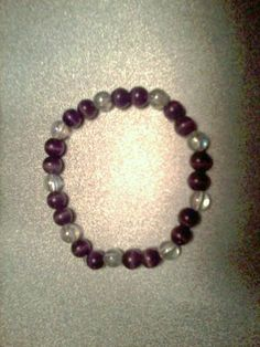 Sharp purple and clear beaded bracelet by StaceysShoppe on Etsy, $4.25