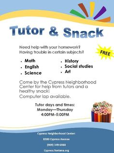 Related Image Tutoring Pamphlets Tutoring Flyer