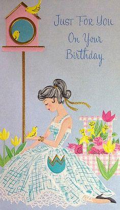 Vintage greeting card birthday happy birthday vintage birthday so you say its your birthday well its my birthday too bookmarktalkfo Choice Image