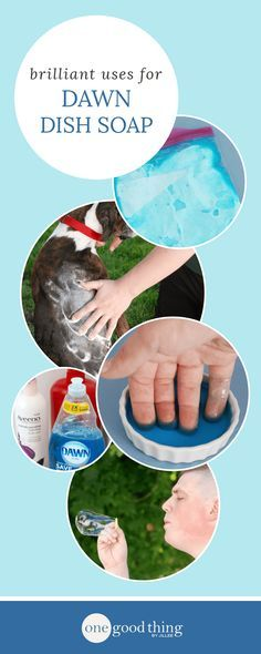 """28 Ways To Use Dawn Dish Soap That Will Make Your Life Easier: If you're familiar with any of the homemade cleaning and laundry solutions I've posted here on the blog, then you may have noticed that many of them have Dawn dish soap as an ingredient. My Armpit Stain Remover, No-Grate Laundry Detergent, and Homemade """"Shout"""" are just a few of the recipes I've posted over the years that include Dawn soap."""