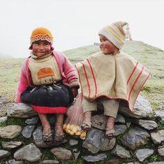 Peru. Photograph of dear Q'ero school chil