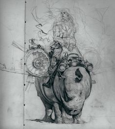 Rhino-féroce...   / By Paulo Altares Ruas.