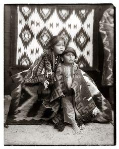 Navajo Brother and Sister, The Pennington Studio, Durango, Colorado http://blogs.denverpost.com/captured/2009/11/20/native-american-prints-by-pennington-photo-studio/