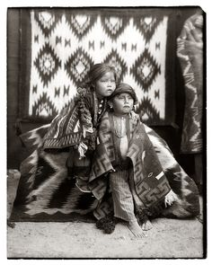 Navajo Brother and Sister, The Pennington Studio, Durango, Colorado http://blogs.denverpost.com/captured/2009/11/20/native-american-prints-by-pennington-photo-studio/