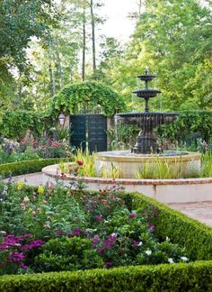Garden with 'Old South' Style   Traditional Home