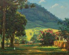Paisagem. 1969. Óleo sobre tela. Edgar Walter (Nova Lima, Minas Gerais, Brasil, 20/11/1917 - 14/05/1994, Petrópolis, Rio de Janeiro, Brasil).