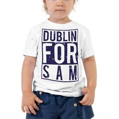 Let your toddler do their thing while feeling super comfy and looking extra stylish in this short-sleeve jersey t-shirt from cotton with a unique print. The tee is soft, durable, and bound to become the staple of your toddlers wardrobe. Heading Fonts, Title Font, Font Styles, Short Sleeve Tee, Dublin, Football, Stylish, Store, Tees