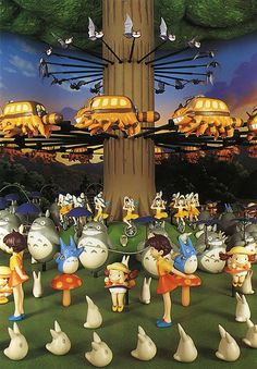 Totoro Zoetrope at Ghibli Museum, Mitaka, Tokyo. I can't find a video online which does justice to how beautiful this was when the lights fell and it started moving.