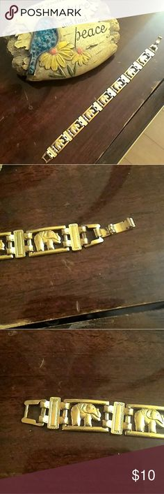 Elephant bracelet With hooked/clasped closure  EXCELLENT condition, rarely used Jewelry Bracelets