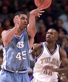 Julius Peppers playing basketball for UNC