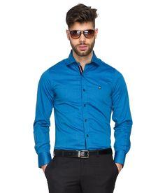 Mufti Blue Casual Shirt