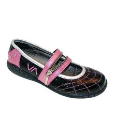 Look what I found on #zulily! Black & Pink Denise Leather Mary Jane - Kids by VADO #zulilyfinds