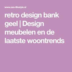 retro design bank geel   Design meubelen en de laatste woontrends