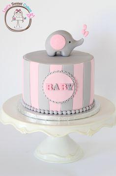 Elephant Baby Shower Cake [omg want, love elephant theme]