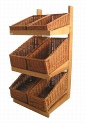 Floor Standing Wicker Basket Display Stand. Like a vegetable stand