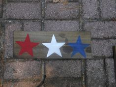 Three Star Rustic Sign by AngelPaws6 on Etsy