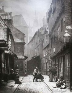 Photo of Black Gate in Newcastle Upon Tyne from Dog Leap Stairs - 19th Century