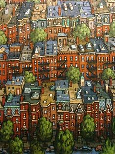 Back Bay Brownstones by Timothy Craig