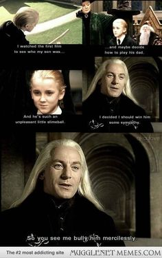 The Malfoy Family winning sympathy for each other...