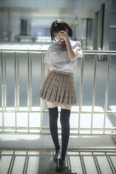 lo-fi beats, hi-fi girls a. School Girl Japan, School Girl Outfit, Japan Girl, Girl Outfits, Cute Outfits, Fashion Outfits, Female Pose Reference, Pose Reference Photo, Cute Asian Girls