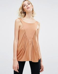 d833997f50bfd Buy Dark Brown NYTT Sleeveless top for woman at best price. Compare Tops  prices from online stores like Asos - Wossel Global