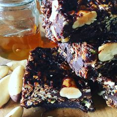 Dark chocolate with brazil nuts oatbars; guilty pleasures on a lazy Sunday