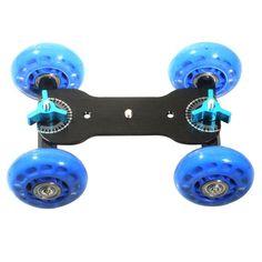 Table Top Dolly Car Skater Track Slider for DSLR Camera Camcorder (Blue&Black)SY