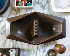 Impressive Erwin Kalla Ashtray for Hyalyn Centerpiece Large