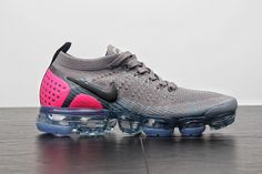 1856b095362f 2018 How To Buy Nike Air Max Vapormax Flyknit 942843 004 Gunsmoke Blue  Orbit Pink Blast Shoe