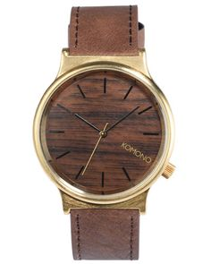 SURFSTITCH - MENS - WATCHES - LEATHER - KOMONO WIZARD WATCH - GOLD WOOD