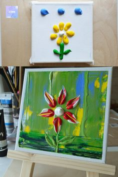 Easily draw with acrylic paint and paletteknife Acrylic Painting Canvas, Palette, Draw, Pallet, Drawings, Painting, To Draw, Drawing, Tekenen