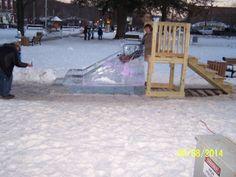 Ice slide for the kids,lol