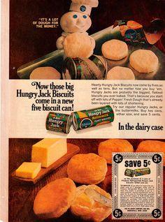 Vintage Original 1968 Pillsbury Hungry Jack Print Ad Vintage 5CENTS Off Coupon | eBay