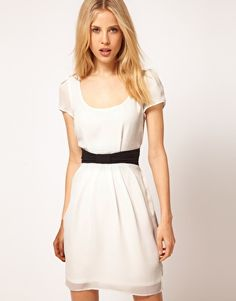 ASOS Tulip Dress With Contrast Bow