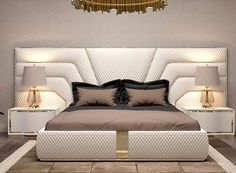 Nightstands, side tables, cabinets or chairs are some of the luxury bedroom furniture tips that you can find. Every detail matters when we are decorating our master bedroom, right? Luxury Bedroom Furniture, Luxury Bedroom Design, Bedroom Closet Design, Master Bedroom Design, Bed Furniture, Furniture Makers, Bed Room Design Modern, Modern Bed Designs, Master Suite