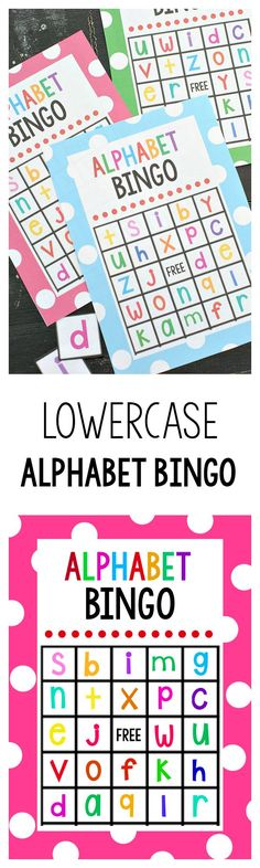 Lowercase Alphabet Bingo Game - Crazy Little Projects Alphabet Phonics, Alphabet Games, Printable Alphabet, Free Printable, Alphabet Activities, Literacy Activities, Teaching Resources, Learning Time, Kids Learning