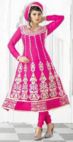Contemporary Pink Faux Georgette Casual Salwar Kameez - IG9144 USD $ 54.09