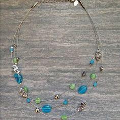 Lia Sophia beaded necklace Beautiful Lia Sophia beaded necklace. Never worn. Lia Sophia Jewelry Necklaces