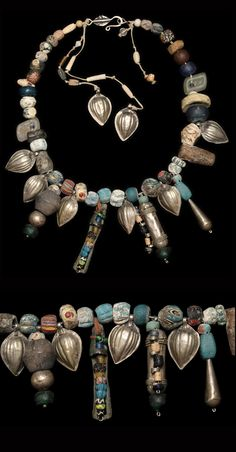Made by Nevra Bozak, Turkey, purchased at Mehmet Cetikaya Gallery 2011. Faience, Roman and Islamic beads, Central Asian silver $2900.
