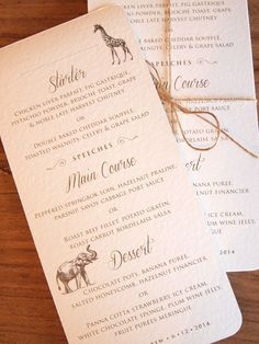 Safari Wedding Invitations & Stationery | Paper Pleasures Stationery