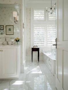 Gorgeous bathroom - Loving the butterfly towels as well! | Beautiful ...