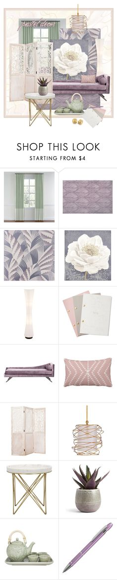 """""""Pastels in Home Decor"""" by valeria-meira ❤ liked on Polyvore featuring interior, interiors, interior design, home, home decor, interior decorating, Nourison, Osborne & Little, Graham & Brown and StudioSarah"""