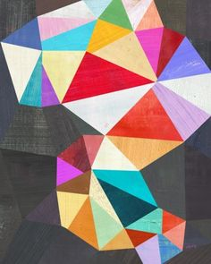 geometric collage of varying triangles