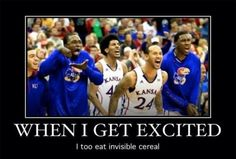 I too eat invisible cereal when I am excited!!  This image makes me laugh out loud, giggle every time it comes to mind.