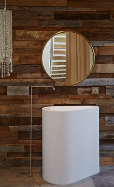 26 best salon images on pinterest in 2018 bathroom for Reclaimed hardwood flooring los angeles