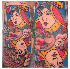 What does queen of hearts tattoo mean? We have queen of hearts tattoo ideas, designs, symbolism and we explain the meaning behind the tattoo. Heart And Soul Tattoo, Queen Of Hearts Tattoo, Adventures In Wonderland, Alice In Wonderland, Love Tattoos, Tatoos, Heart Tattoos Meaning, Poker Tattoo, Aces And Eights