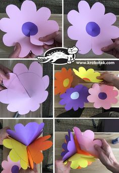 garland of flowers krokotak Craft Kits For Kids, Paper Crafts For Kids, Preschool Crafts, Paper Flower Garlands, Large Paper Flowers, Flower Room Decor, Felt Flowers Patterns, Mobile Craft, Diy Girlande