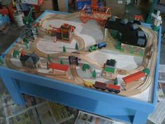Build your child their own wooden train table from free plans online ...